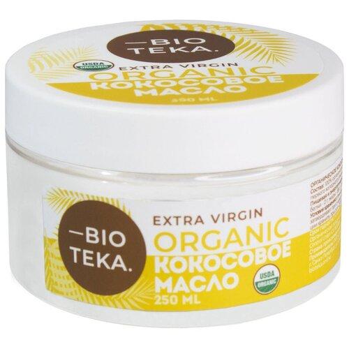 Фото - BIOTEKA масло кокосовое Extra Virgin Organic, 0.25 л aroy d масло 100% кокосовое extra virgin 0 18 л