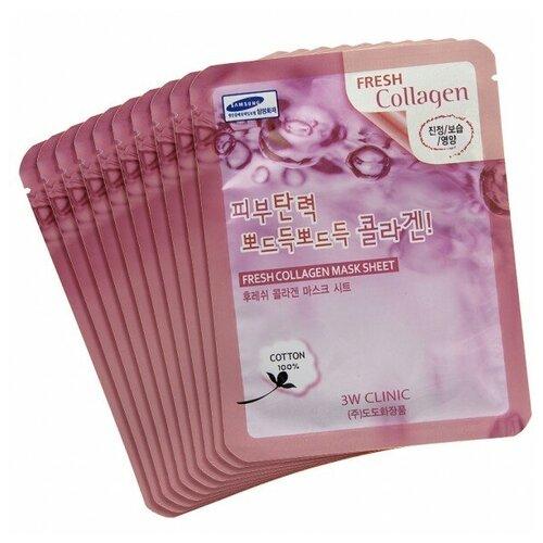 Купить 3W CLINIC Тканевая маска для лица с коллагеном Fresh Collagen Mask Sheet 10шт 23 мл