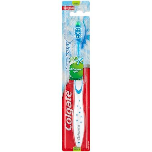 Зубная щетка Colgate Макс Блеск отбеливающая, средней жесткости, синий