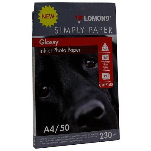 Фото - Бумага Lomond A4 Simply Paper 0102155 230 г/м² 50 лист., белый бумага lomond a4 photo paper 0102022 230 г м2 50 лист