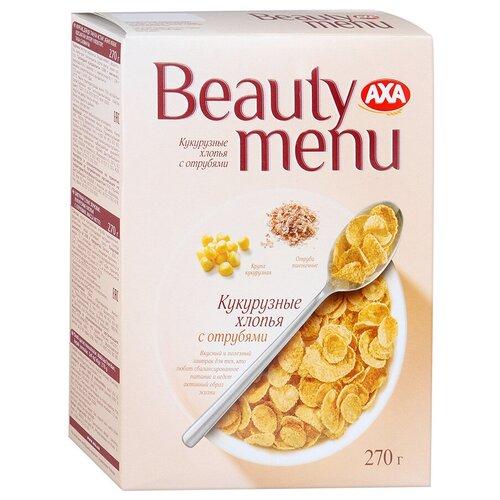 Фото - Готовый завтрак AXA Beauty Menu Кукурузные хлопья с отрубями, коробка, 270 г мюсли axa muesli crispy хрустящие медовые хлопья и шарики с тропическими фруктами коробка 270 г