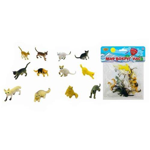 Купить Игровой набор Кошки, 12 предметов Shantoy Gepay M0799, Наша игрушка, Игровые наборы и фигурки