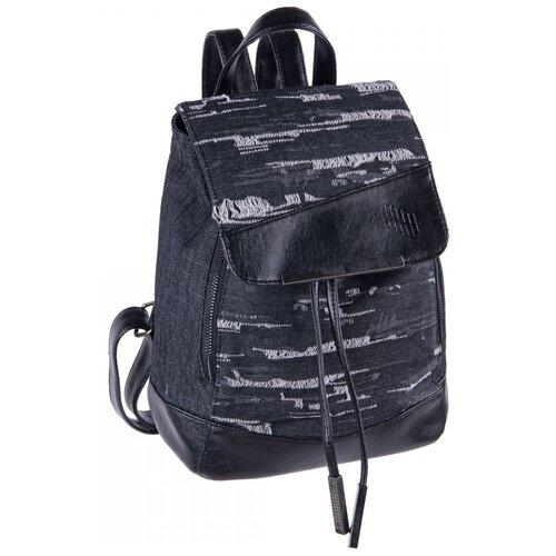 Рюкзак PULSE ROMA BLACK JEANS, 28x24x17см pulse рюкзак pulse scate black dot