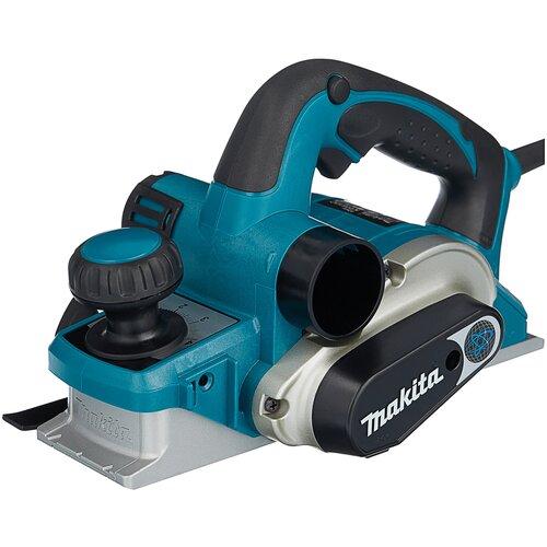 Сетевой электрорубанок Makita KP0810C, 1050 Вт синий/черный/серый электрорубанок makita 1806b