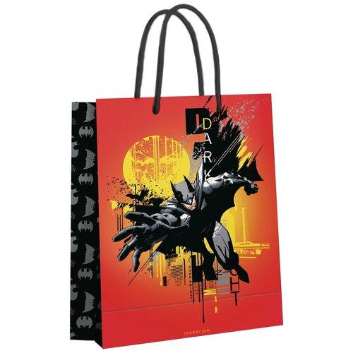 Пакет подарочный ND Play Batman 25 х 35 х 10 см оранжевый недорого