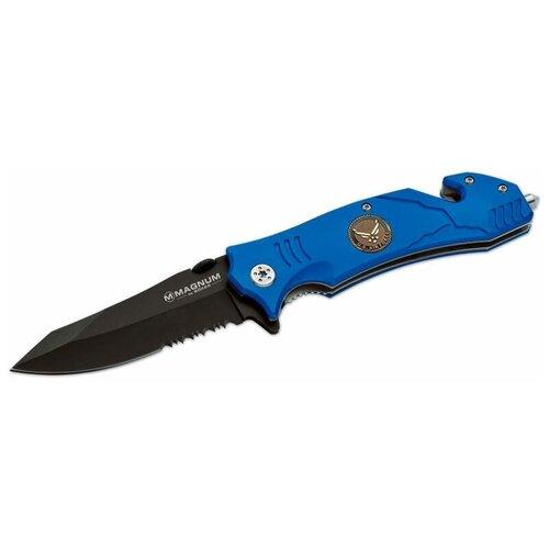 Фото - Нож складной Boker Magnum Air Force Rescue синий нож складной boker magnum shadow 01mb428 черный