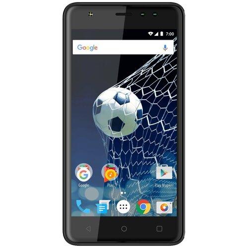 Смартфон VERTEX Impress Game, черный смартфон vertex impress luck nfc lte black