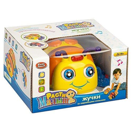 Купить Жук на бат., Расти Малыш, Play Smart BOX 16, 5х15х10 см, цвет жёлто-оранжевый, арт. 9443., Развивающие игрушки