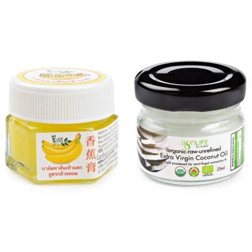 BIO WAY/AGRILIFE Набор: бальзам для ног увлажняющий с экстрактом банана и натуральное кокосовое масло холодного отжима 30 г/25 мл