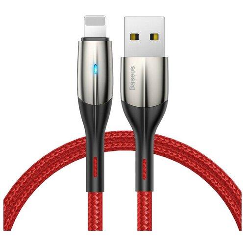 Кабель Baseus Horizontal USB - Lightning (CALSP) 1 м, красный кабель baseus couple magnetic lightning usb calfd 1 м синий красный