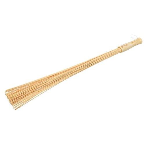 Банные штучки Веник массажный, бамбуковый бежевый