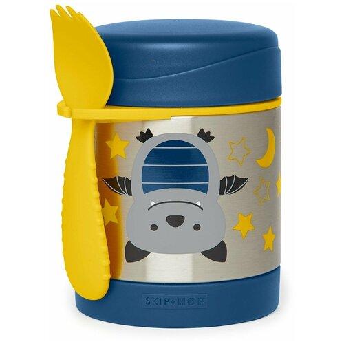Термос для еды SKIP HOP Zoo Bat, 0.325 л синий/желтый