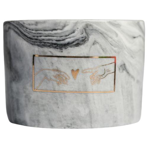 Кашпо Дарите счастье Искусство 5.5 х 8 см серебристый по цене 384