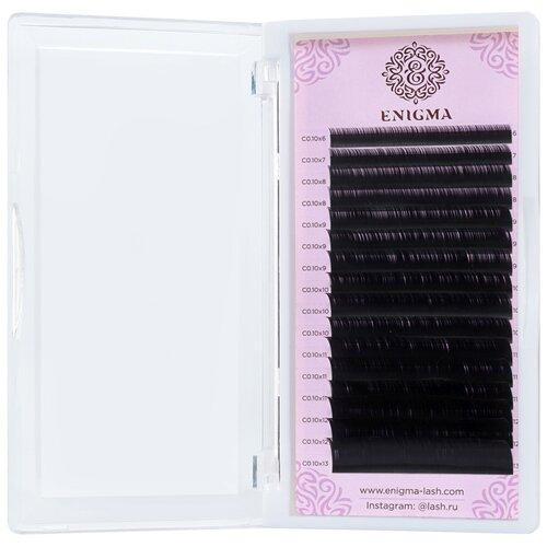 Черные ресницы Enigma микс 0,07/L+/7-14 mm (16 линий)