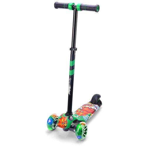 Фото - Детский кикборд Small Rider Turbo 2 Cartoons, зеленый/оранжевый дино кикборд small rider cosmic zoo scooter оранжевый