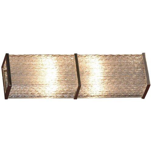 Настенный светильник Lussole Lariano LSA-5401-02, G9, 80 Вт, кол-во ламп: 2 шт., цвет арматуры: хромовый, цвет плафона: бесцветный светильник lussole lsa 5401 02 lariano