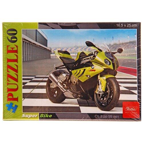 Пазл Hatber Мотоцикл (60ПЗ5_09232), 60 дет. пазл hatber черный мотоцикл 179пзк4 13407 179 дет