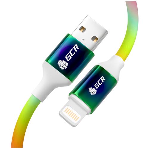 Кабель 1.2м айфон Lightning зарядка MFI GCR USB Lightning для Apple smart watch айпад new IOS градиент