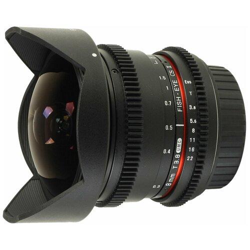 Фото - Объектив Samyang 8mm T3.8 AS IF UMC Fish-eye CS II VDSLR Canon EF bushing 8mm