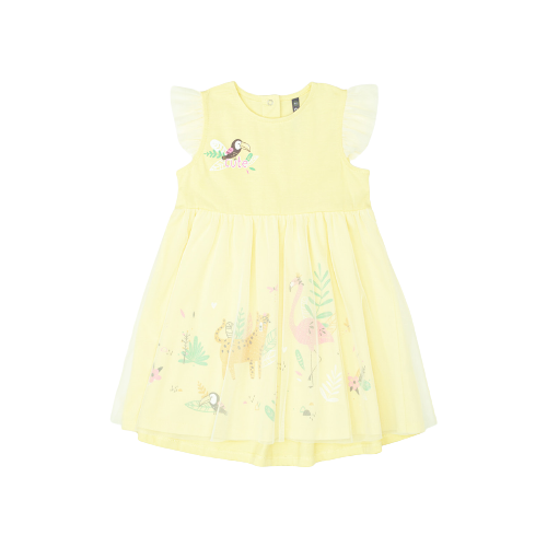 Платье crockid размер 92, бледно-желтый платье optop размер 110 бледно желтый бабочки