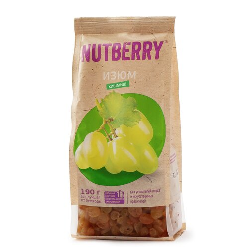 Изюм NUTBERRY кишмиш без косточек, 190 г