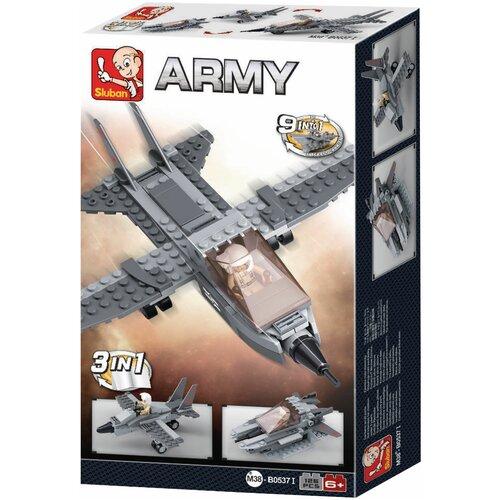 Купить Конструктор SLUBAN Вооруженные силы M38-B0537I Истребитель 3 в 1, Конструкторы