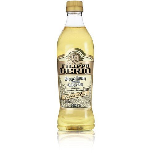 Filippo Berio масло оливковое рафинированное c добавлением нерафинированного Mild & Light, пластиковая бутылка, 1 л