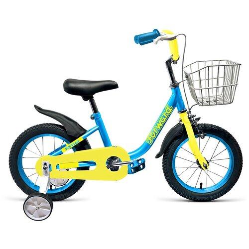 Детский велосипед FORWARD Barrio 14 (2019) голубой (требует финальной сборки)