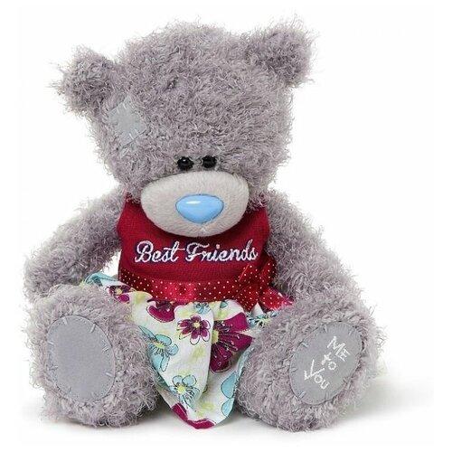 Мягкая игрушка Me to you Мишка Тедди в платье Best friends 20 см