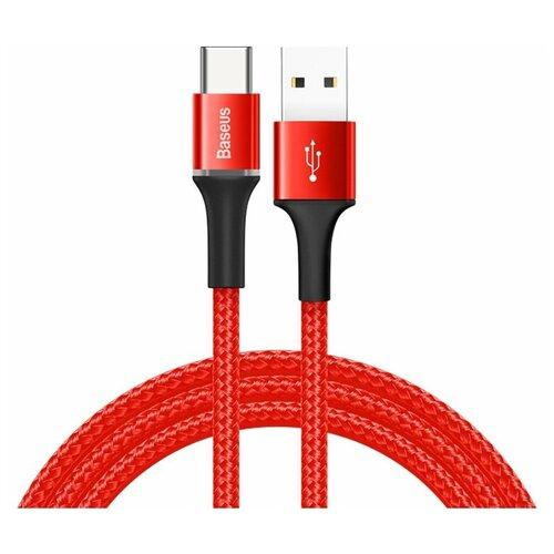 Фото - Кабель Baseus Halo Data Cable USB - USB Type-C (CATGH-B) 1 м, красный кабель micro usb baseus camgh e01 halo data cable usb for micro 2a 3м black черный