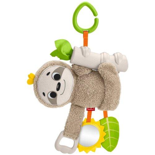 Фото - Подвесная игрушка Fisher-Price Ленивец (GHL39) бежевый/зеленый развивающий коврик fisher price ленивец gnb52