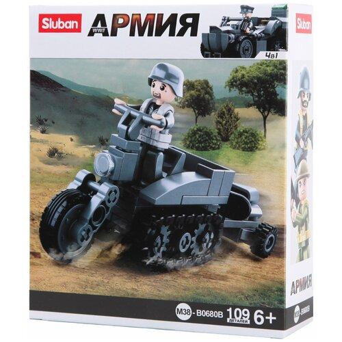 Конструктор SLUBAN WW2 M38-B0680B Гусеничный мотоцикл