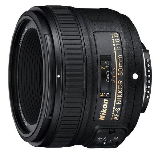 Фото - Объектив Nikon 50mm f/1.8G AF-S Nikkor черный телеконвертер nikon af s tc 20e iii