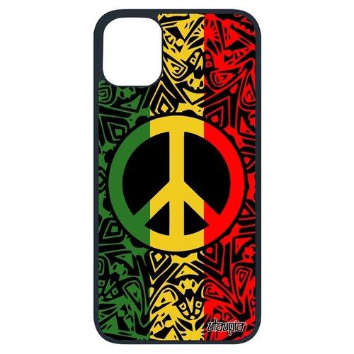 Чехол на iPhone 11 Про уникальный дизайн Peace and Love Рисунок Мир и Любовь