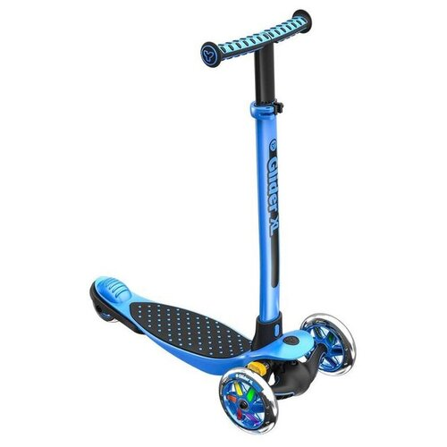 Детский кикборд Y-Volution Glider XL, черно-синий трехколесные самокаты yvolution модель y glider xl deluxe