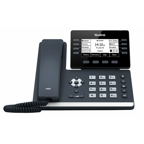 VoIP-телефон Yealink SIP-T53 серый voip телефон yealink sip t27g черный