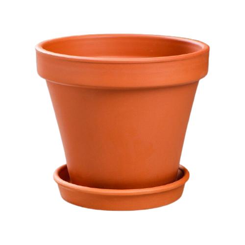 Горшок Красная глина с поддоном Стандарт 14 х 14 х 13 см коричневый по цене 293