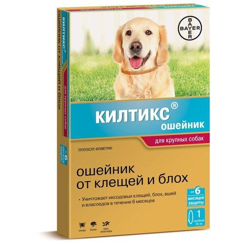 Килтикс (Bayer) ошейник от блох и клещей инсектоакарицидный для собак и щенков, 66 см bayer kiltix bayer ошейник килтикс для собак крупных пород 66 см