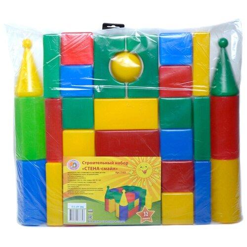 Кубики Строим вместе счастливое детство Стена-смайл 5183
