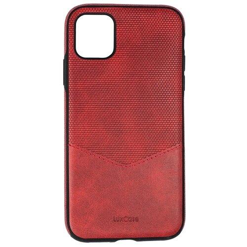 Защитный чехол для iPhone 11 / на Айфон 11 / бампер / экокожа / накладка на телефон / Красный