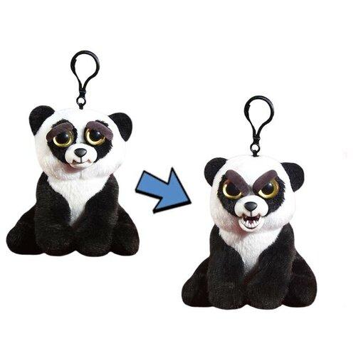 Панда чёрно-белая, Feisty Pets, 11см, с карабином.