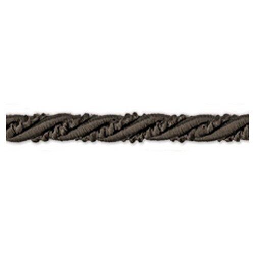 Шнур витой PEGA, черный, 6 мм 64% хлопок, 36% вискоза