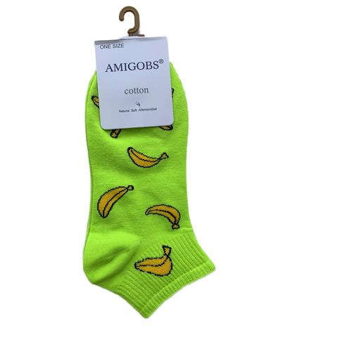 Носки AMIGOBS цветные укороченные женские, зеленые