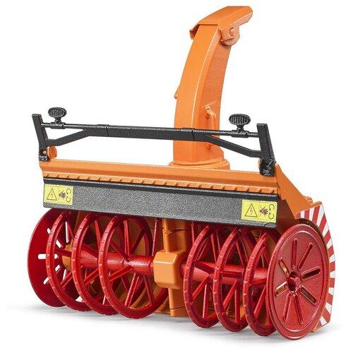 Снегоочиститель Bruder 02349 оранжевый/красный