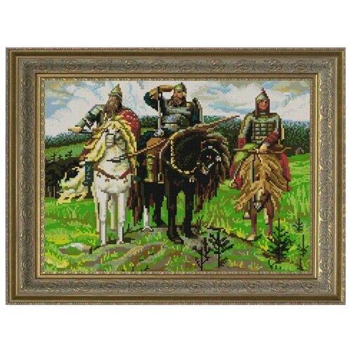Купить Рисунок на ткани «Конёк» 9765 Три богатыря (В.Васнецов), 29x39 см, Наборы для вышивания