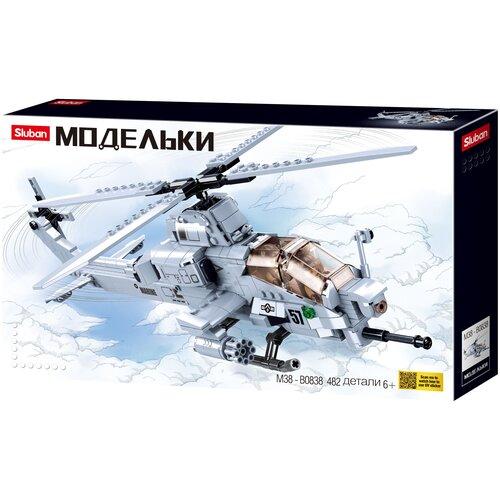 Конструктор SLUBAN Модельки M38-B0838 Ударный вертолет