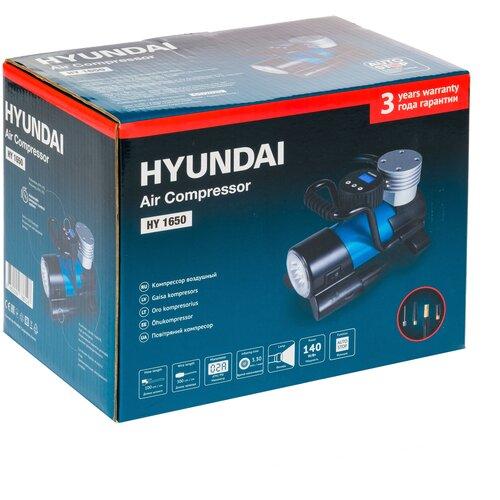 Фото - Автомобильный компрессор Hyundai HY 1650 синий/черный аккумулятор автомобильный hyundai cmf 65ач 520a [75d23l]