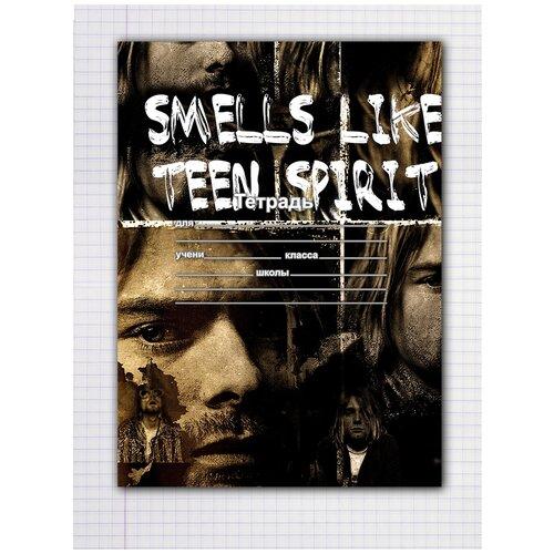 Купить Набор тетрадей 5 штук, 12 листов в клетку с рисунком Smells like teen spirit, Drabs, Тетради