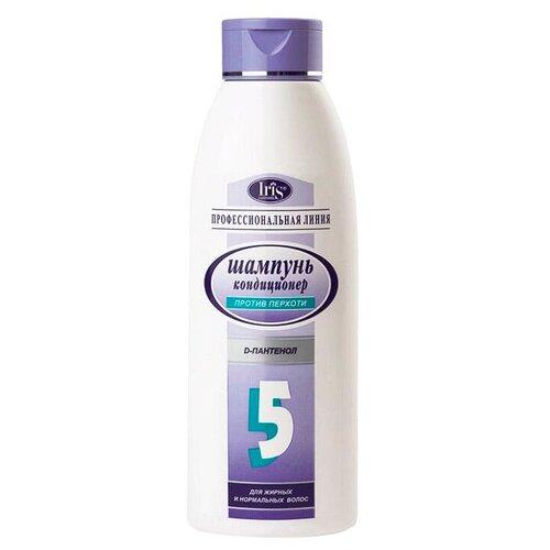 IRIS cosmetic шампунь-кондиционер Профессиональная линия №5 Профилактика перхоти с D-пантенолом для нормальных и жирных волос, 1 л