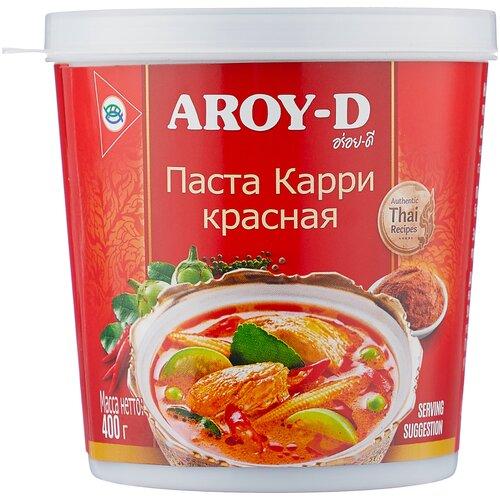 Aroy-D Паста Карри красная, 400 г паста чили с соевым маслом aroy d 260 г